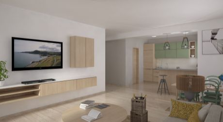 NOVOSTAVBA - 3 izbový byt, 92 m2 s výhľadom na MALÚ FATRU