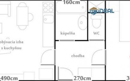 ZNÍŽENÁ CENA, Priestranný 1 – i. stredový byt, 43m2, Švábska