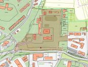 Škola na 3 ha pozemku, vhodné na výstavbu bytových domov