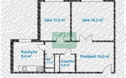 Na predaj pekný 2 izbový byt Romanova ul. Petržalka