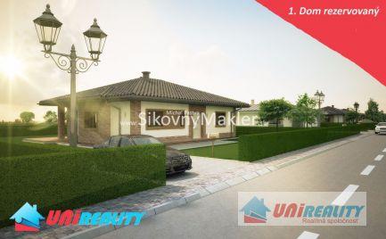 DOLNÉ NAŠTICE –  2 novostavby rodinných domov / 1 rezervovaný / pozemok 590 m2 / okres Bánovce nad Bebravou