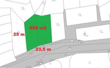 Záhrada  608 m2 s chatkou,  Fončorda B. Bystrica – cena 14 500€
