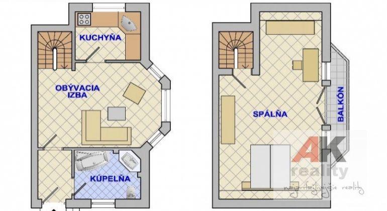 Prenájom 2 izbový byt Bratislava-Podunajské Biskupice, Hydinárska