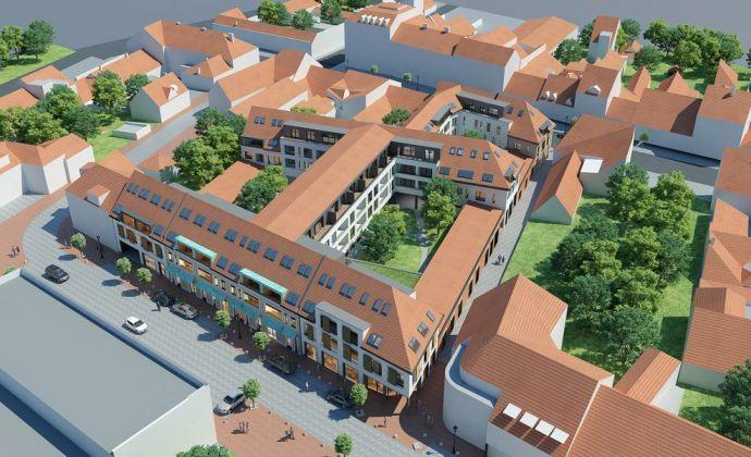 Novostavba veľkého 2-izbového bytu v historickom centre Trnavy, komplet zariadený, klimatizovaný, parkovanie v podz. garáži!