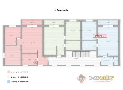 2850  Predaj 2 a 3 izbových bytov v Kolárove.