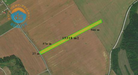 Na predaj orná pôda 6 740 m2, 8 578 m2 alebo 15 318 m2, Bošáca, Nové Mesto nad Váhom