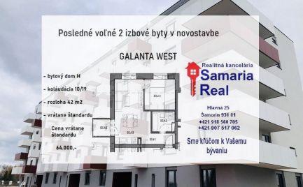 Ideálna príležitosť, 2 izbový byt v Galanta West - BYT: H – B5.4.