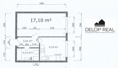 V novonadstavbe na Nobelovej ulici 1 izbový zariadený byt na predaj