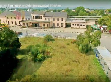 Pozemok na komerčné využitie 1197 m2 Piešťany, Dopravná