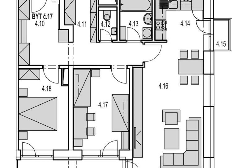 Rezervované M17:  Na predaj veľký 3 izbový byt v novostavbe Byty MAXIM - Martin - Podháj + parkovacie miesto,