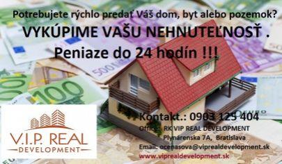 Výkup bytov , peniaze ihneď !!!