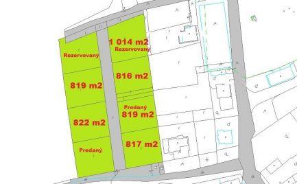 Ponúkame Vám na predaj pozemky - . Stavebné pozemky 800 m2 – 1 000 m2, 8 km od Zvolena – cena 32 000 €