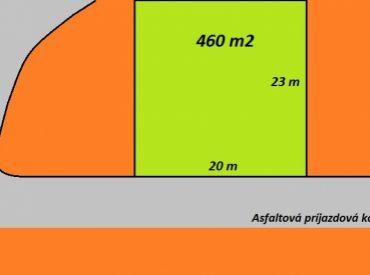 ** Na predaj stavebný pozemok 460 m2 pre výstavbu RD v novej vilovej štvrti - Nové Mesto n/V - Bzinská ul. - III. etapa **