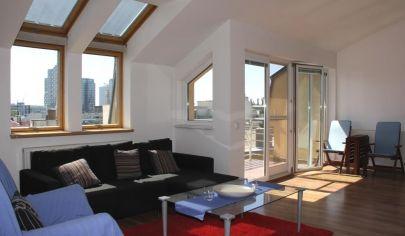 PRENAJATÉ: slnečný 3 - izbový byt, 7/7 posch., blízko centra Bratislavy – Krížna ul.