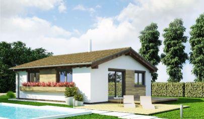 DREVODOM - NIZKOENERGETICKÝ výstavba 2izb. dom, 73m2, NITRA