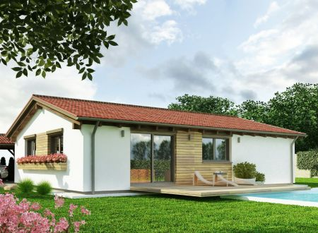 Rodinný dom 4-izbový 73 m2, pozemok 581 m2 v obci Ivanovce.