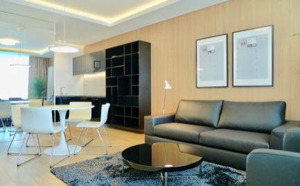 Ponúkame na prenájom moderný, kompletne nadštandardne zariadený 2-izbový by v novostavbe Panorama City na Landererovej ulici, s nádherným výhľadom na Dunaj a Euroveu.