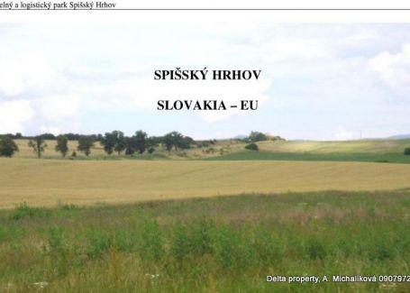 DELTA PROPERTY ponúka na predaj pozemok v priemyselnom parku Spišský Hrhov.