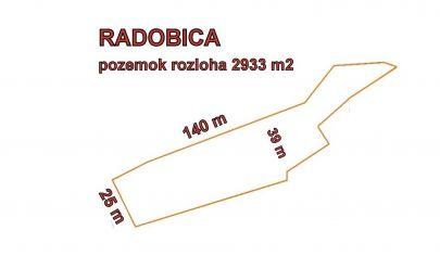 SLNEČNÝ POZEMOK POD LESOM, 2933 m2 ,RADOBICA
