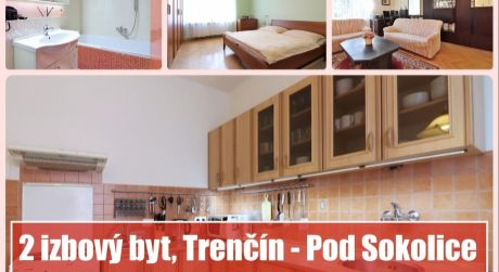 Hľadáte priestranný tehlový 2 izbový byt s potenciálom? Máme pre vás taký v lokalite Trenčín - Pod Sokolice...