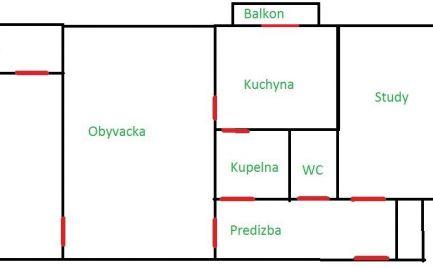 Ponúkame Vám na prenájom 3 izbový byt Bratislava-Ružinov,  Komárnická