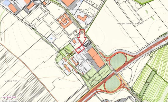 Stavebný pozemok 4435m2, IS - priemyselná a komerčná výstavba, SC