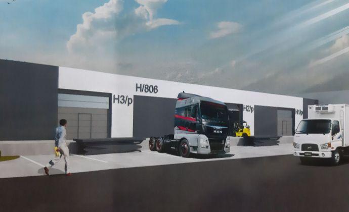 Multifunkčná hala 2016m2 s výborným dopravným napojením, 300m od diaľnice