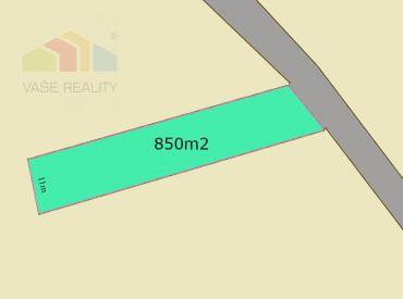 Na predaj pozemok 850m2 Bobot