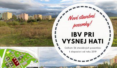 Nové stavebné pozemky IBV Pri Vyšnej hati sídl. Mier