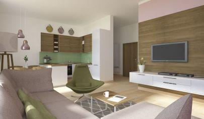 POSLEDNÝ Byt 3+1 (74 m2) s balkónom, centrum Sp. Nová Ves