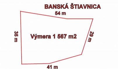 BANSKÁ ŠTIAVNICA  pozemok pre priemyselnú výstavbu 1567m2