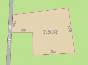 Na predaj stavebný pozemok 1150m2, Nové Mesto n.V. centrum