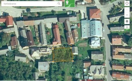 Stavebný pozemok v centre obce Veľká Čierna