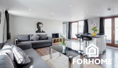 Luxusný čiastočne zariadený 2 izbový byt v centre mesta, prenájom, NZ