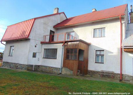 EXKLUZÍVNE - Dvojgeneračný rodinný dom na predaj Gerlachov - DOHODA NA CENE MOŽNÁ!!!