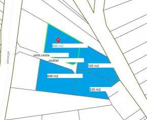 PREDAJ SP  2x 535m2, 600m2, 649 m2 + 37 m2 podiel na príst. ceste,  NITRIANSKE HRCIAROVCE,