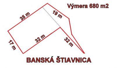 BANSKÁ ŠTIAVNICA  pozemok pre priemyselnú výstavbu 680m2