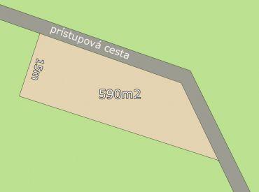 Na predaj stavebný pozemok 590m2 Trenčianske Jastrabie