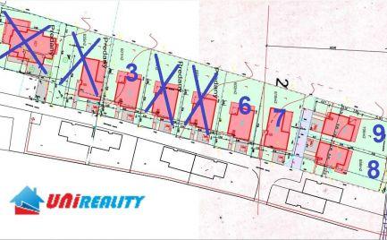 Obec SVINNÁ – novostavby BUNGALOV na predaj - 4 izby s terasou na pozemkoch o výmere 601 - 706 m2
