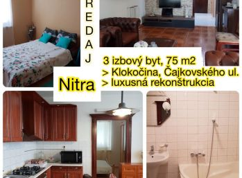 Predaj luxusne zrekonštruovaného 3.izb bytu v Nitre na Klokočine s klimatizáciou