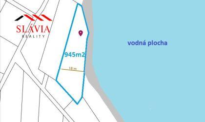 Rekreačný pozemok Nemšová - pri jazere 945m2 - 10500€