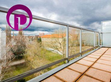 PRENAJATÉ - 3i byt, 122 m2 – BA – Ružinov - NIVY: VEĽKOMETRÁŽNY mezonetový byt S TERASOU s nádherným výhľadom na HRAD.