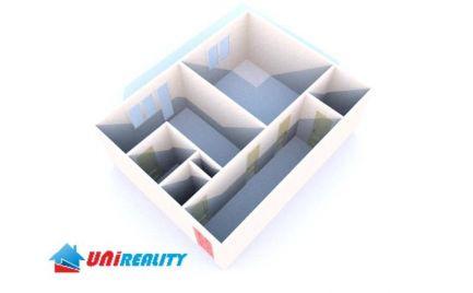 BÁNOVCE nad BEBRAVOU – 1 – izb. byt / sídlisko STRED / komplet rekonštrukcia / BALKÓN / veľkometrážny