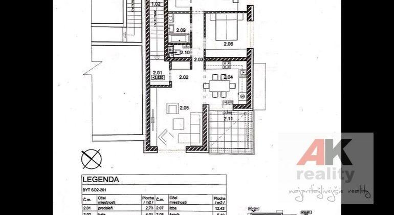 TOP PONUKA -krásne- 3 izbové byty s terasou,štandard,vlastný kotol,parkovanie.V Grinave!