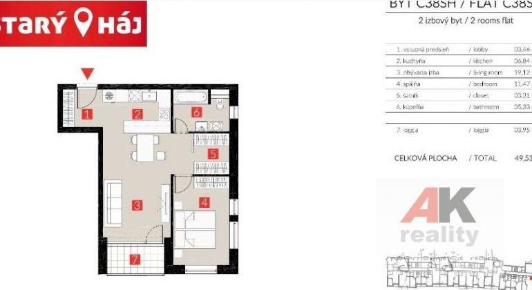 Prenájom 2 izbový byt Bratislava-Petržalka, Lužná ulica