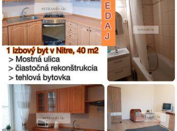 Predaj 1.izb. bytu v Nitre v meste v tehlovej bytovke