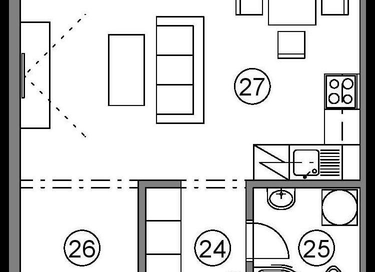 1 izbový byt na predaj PodH, v novom projekte