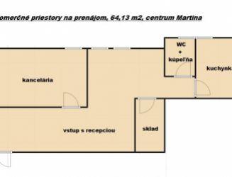 Prenájom kancelárskych priestorov v centre mesta Martin
