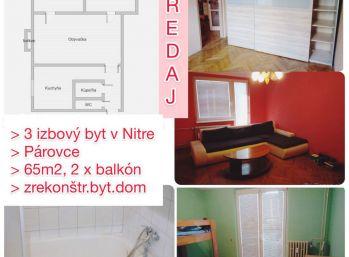 Predaj zrekonštruovaného 3.izb bytu v Nitre v centre - Párovce