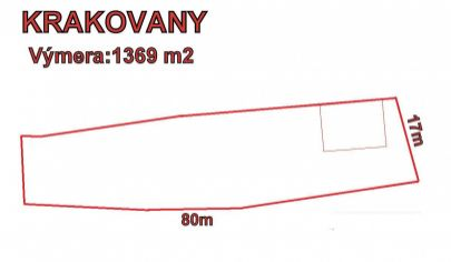 Krakovany,okres Pieštany, pozemok 1200 m2